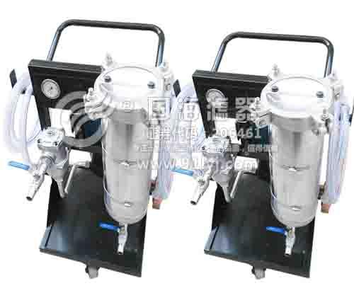 手推式滤油机LYC-32A不锈钢罐体系列